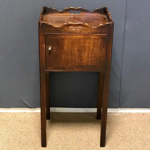 George III Period Mahogany Tray Top Bedside Table image-1