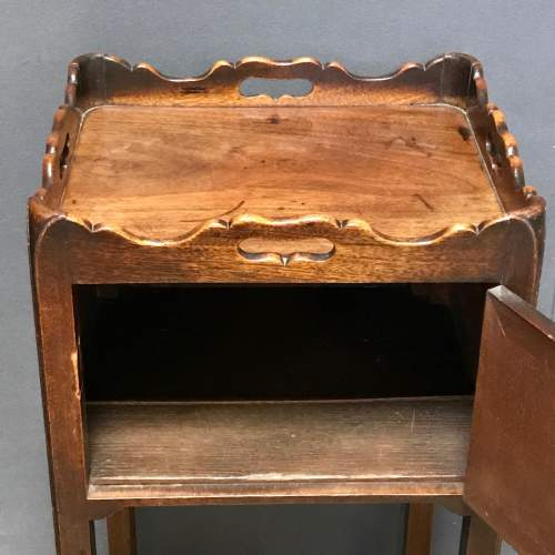 George III Period Mahogany Tray Top Bedside Table image-3
