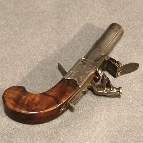 19th Century Pair of Flintlock Boxlock Pocket Pistols image-3