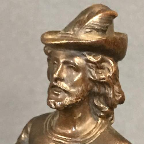 Late 19th Century Cast Bronze Figure of a Lute Player image-2