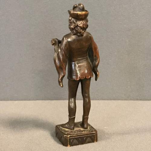 Late 19th Century Cast Bronze Figure of a Lute Player image-4