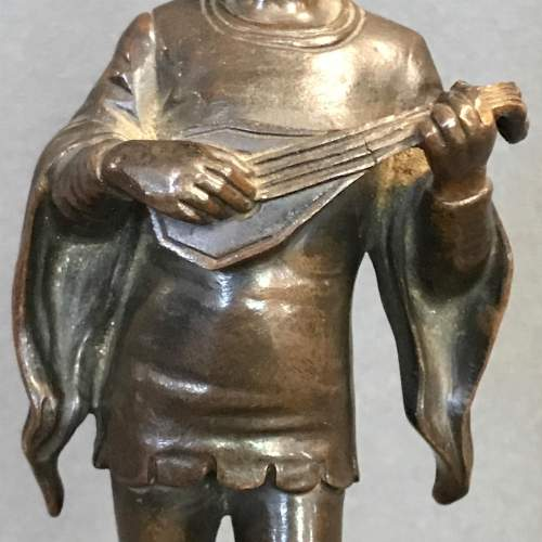 Late 19th Century Cast Bronze Figure of a Lute Player image-6