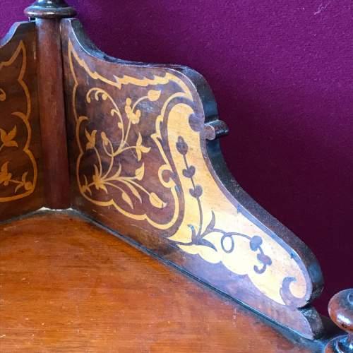 Victorian Inlaid Mahogany Whatnot image-2