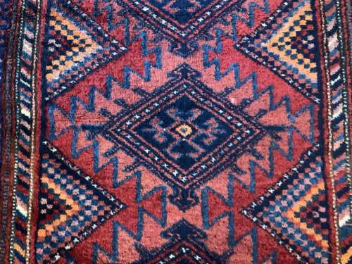 Superb Old Hand Knotted Kurdish Rug Stunning Village Piece image-2