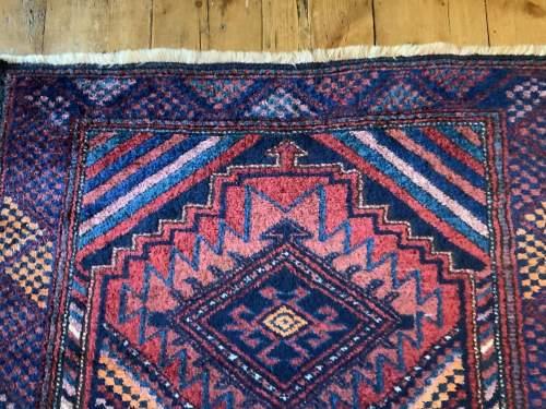 Superb Old Hand Knotted Kurdish Rug Stunning Village Piece image-3