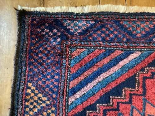 Superb Old Hand Knotted Kurdish Rug Stunning Village Piece image-4