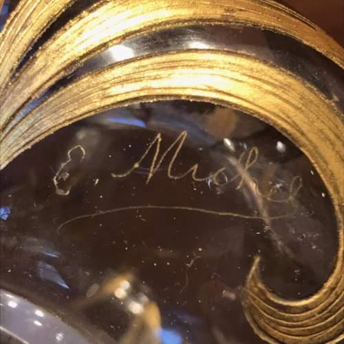 Art Nouveau Gilded and Cut Glass Vase image-4