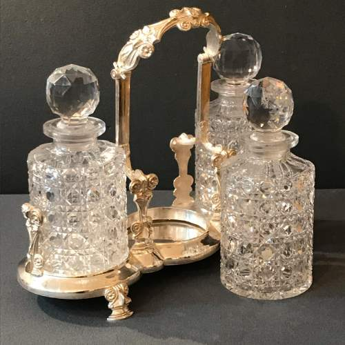 19th Century English Silver Plated Decanter Set image-2
