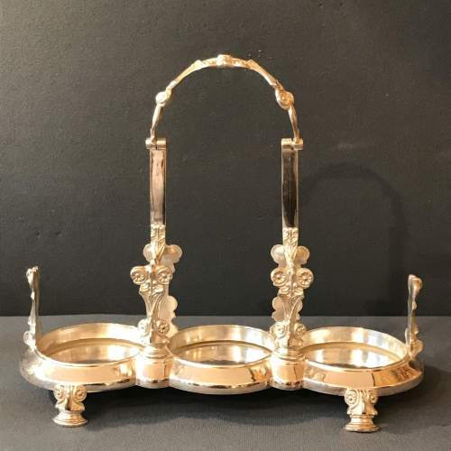 19th Century English Silver Plated Decanter Set image-4