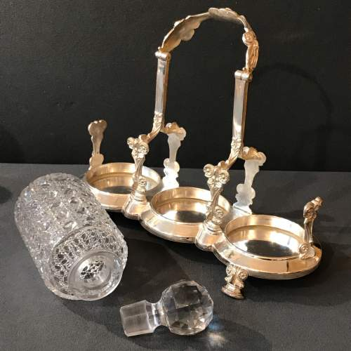 19th Century English Silver Plated Decanter Set image-5