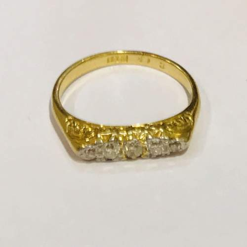 Antique 18ct Gold Diamond Ring image-1