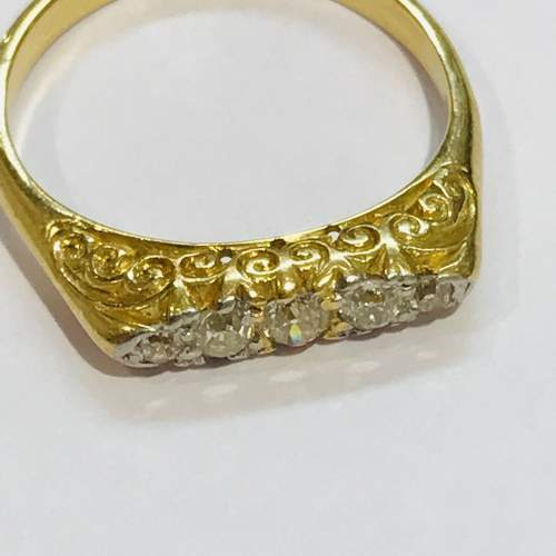 Antique 18ct Gold Diamond Ring image-2