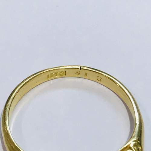 Antique 18ct Gold Diamond Ring image-4