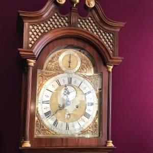 Chippendale Mahogany Longcase Clock