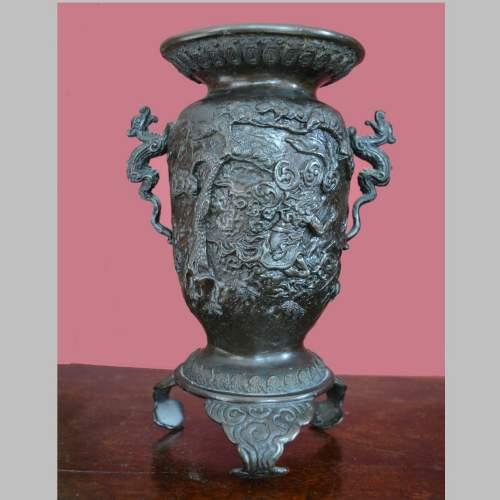 Fine Pair of Chinese Bronze Vases image-3