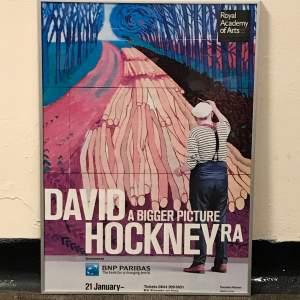 David Hockney Royal Academy Exhibition Poster