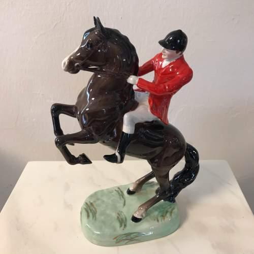Beswick Horse Rearing Huntsman image-1
