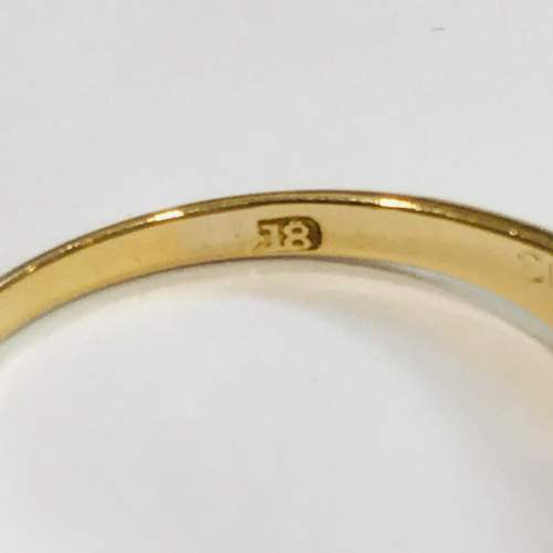 Late 19th Century 18ct Gold Diamond and Sapphire Ring image-4
