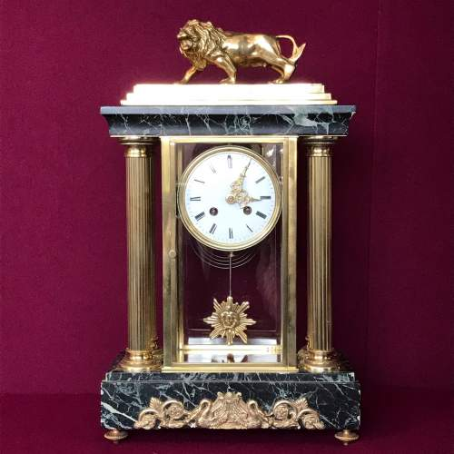Late 19th Century French Four Glass Clock image-1