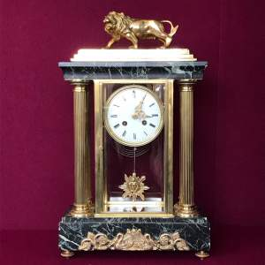 Late 19th Century French Four Glass Clock