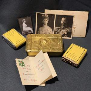 Princess Mary 1914 World War One Tin with Contents