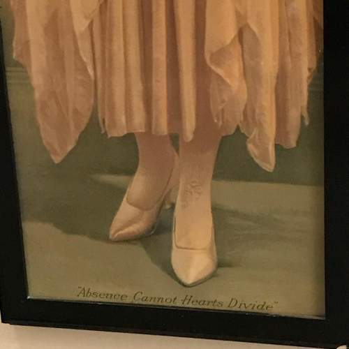 Framed 1920s Print of Absence Cannot Hearts Divide image-3