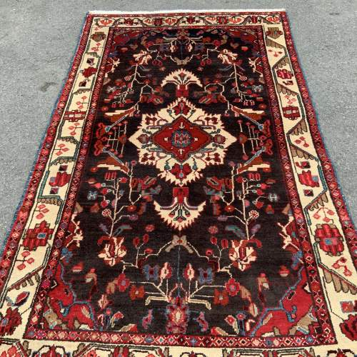 Old Hand Knotted Persian Rug Hamadan Area image-1