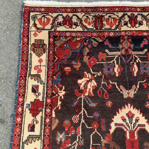 Old Hand Knotted Persian Rug Hamadan Area image-3