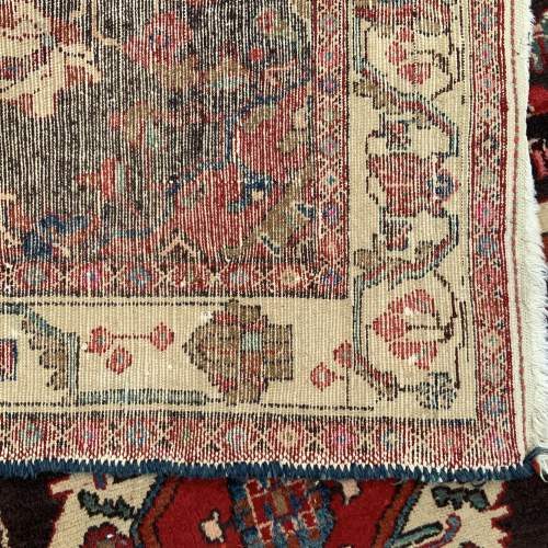 Old Hand Knotted Persian Rug Hamadan Area image-4