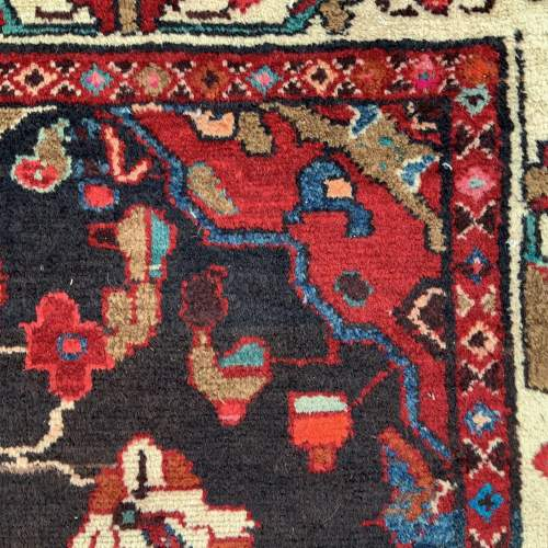 Old Hand Knotted Persian Rug Hamadan Area image-5
