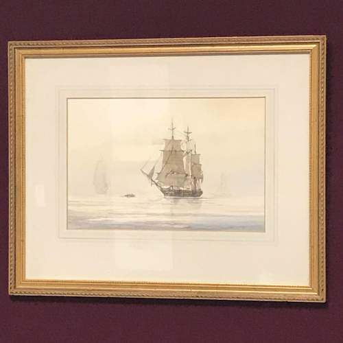 Humber Shipping Original Watercolour by David C Bell image-1