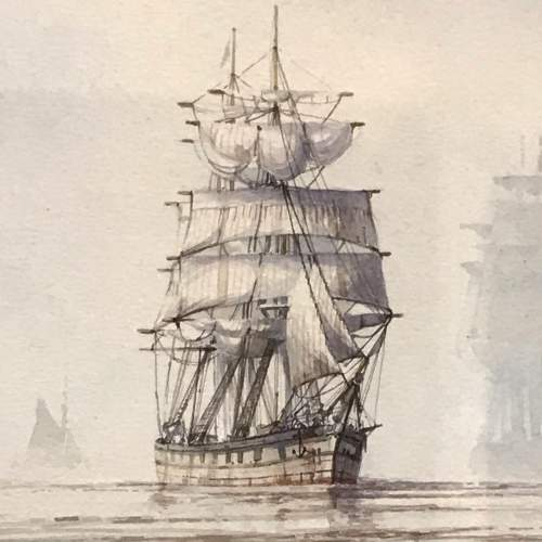 Humber Shipping Original Watercolour by David C Bell image-2
