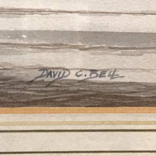 Humber Shipping Original Watercolour by David C Bell image-3