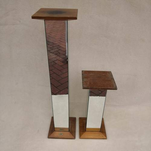Two Mid Century French Mirrored Plinths image-1