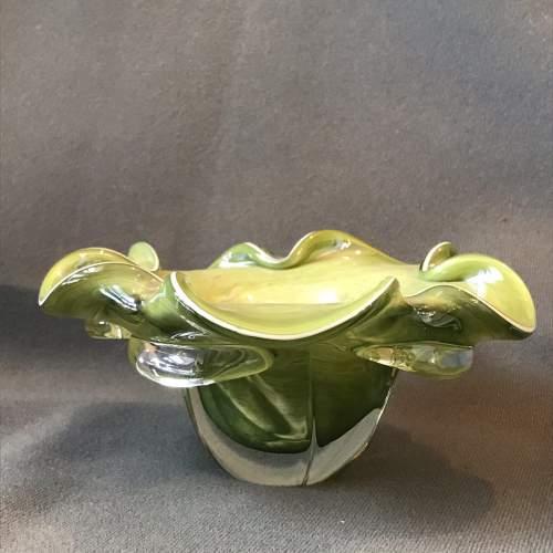 Murano style Jade Glass Bowl image-1