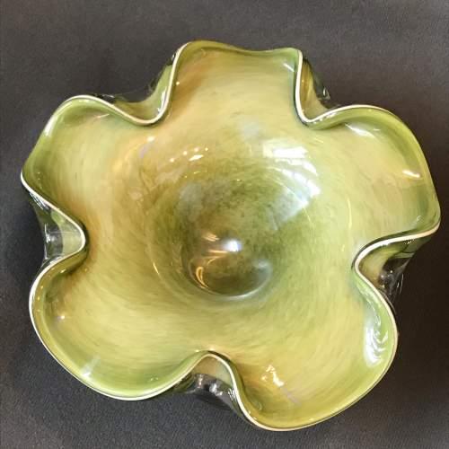 Murano style Jade Glass Bowl image-2
