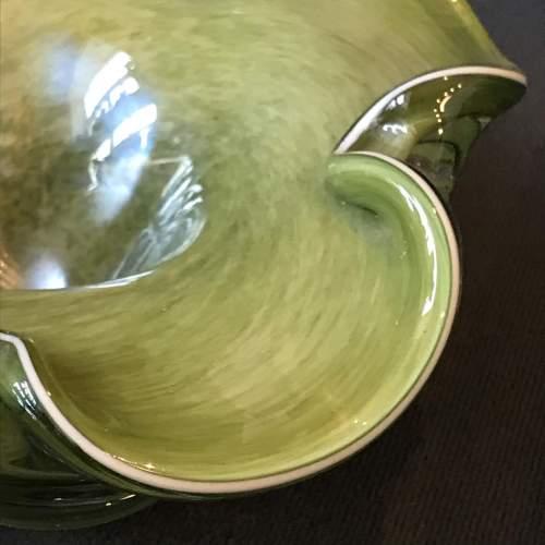 Murano style Jade Glass Bowl image-3