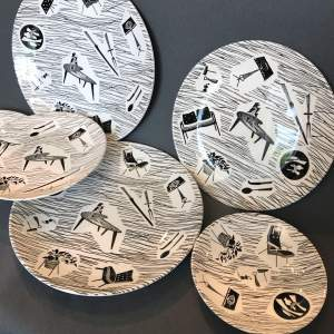 Collection of 1950s Homemaker Plates