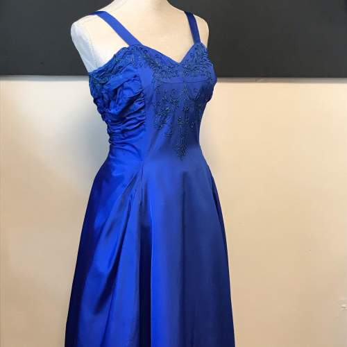 1950s Royal Blue Ball Gown image-1