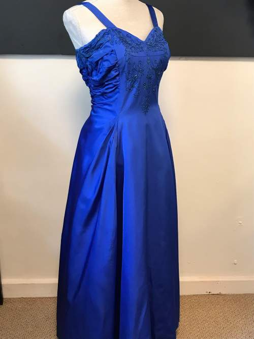 1950s Royal Blue Ball Gown image-5
