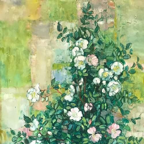 Vase de Fleurs Oil on Canvas by Andre Vignoles image-2