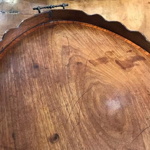 George III Period Mahogany and Tulipwood Banded Tray image-4