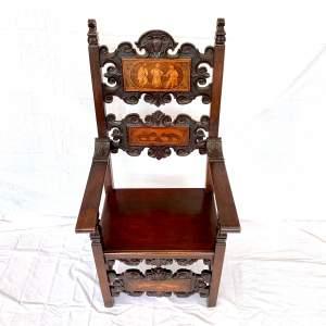19th Century Decorative Italian Armchair