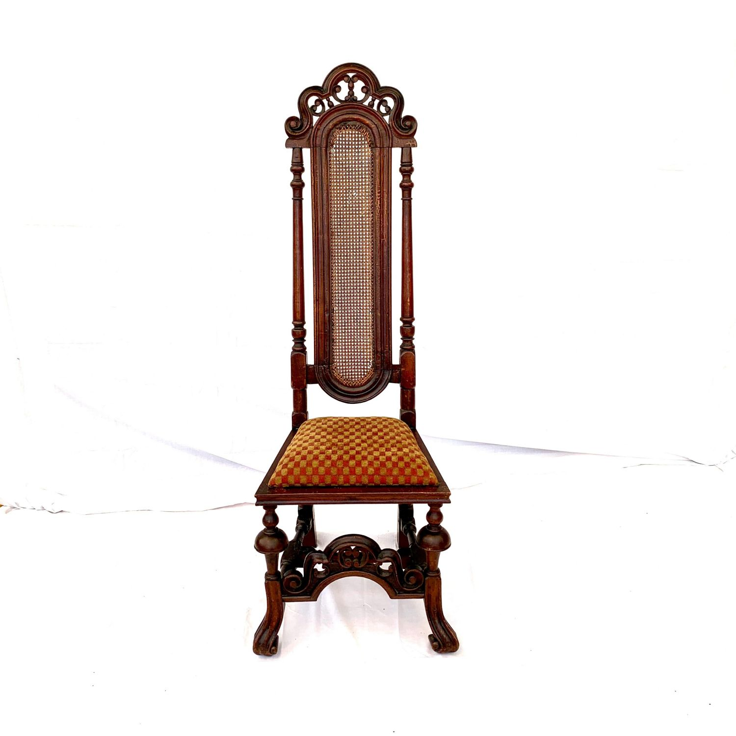 A Fine William And Mary High Back Chair