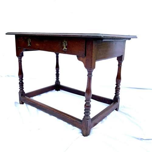 A William III Oak Side Table image-1