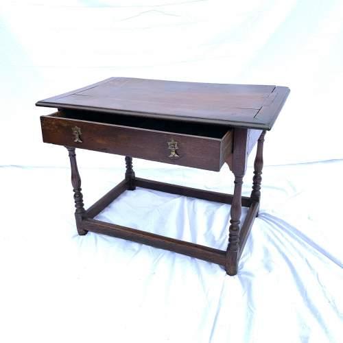 A William III Oak Side Table image-2