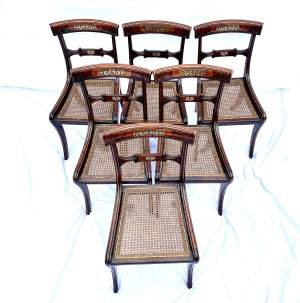 Set of Five Regency Period Dining Chairs