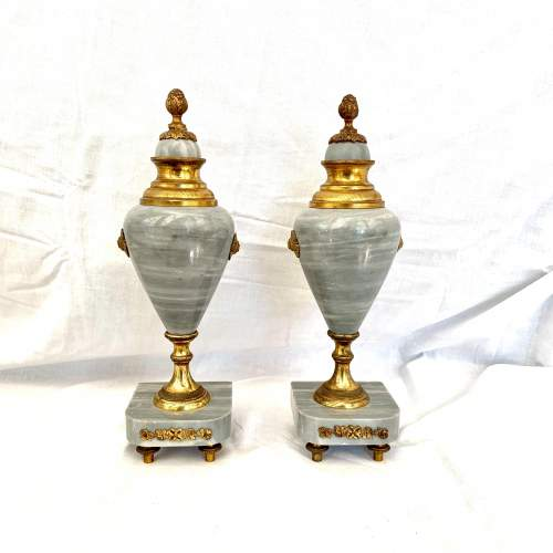 Pair of French Marble Urns Circa 1900 image-1