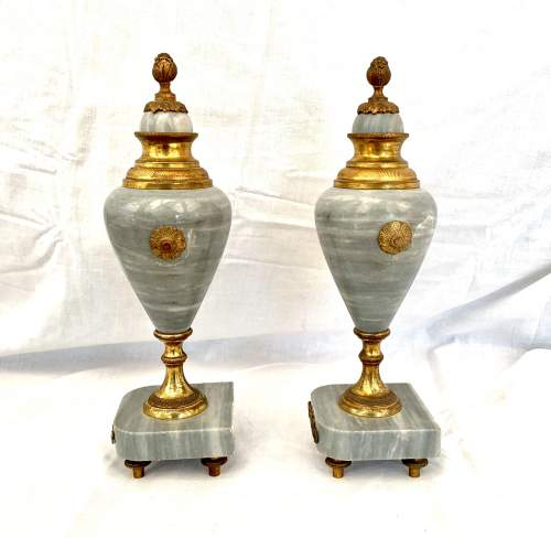 Pair of French Marble Urns Circa 1900 image-2