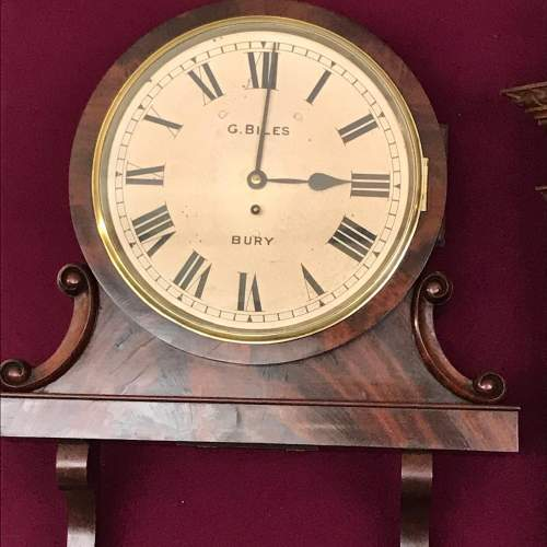 Regency Period Fusee Dial Clock with Bracket image-1